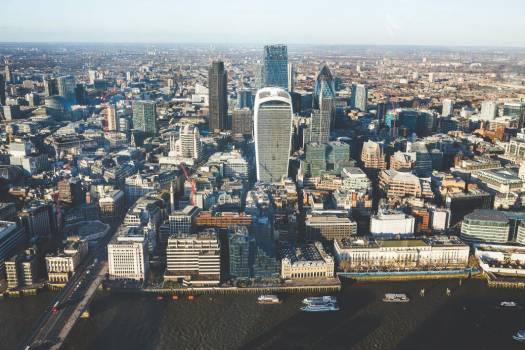 Aerial View City Skyline Skyscraper Free Photo #403787