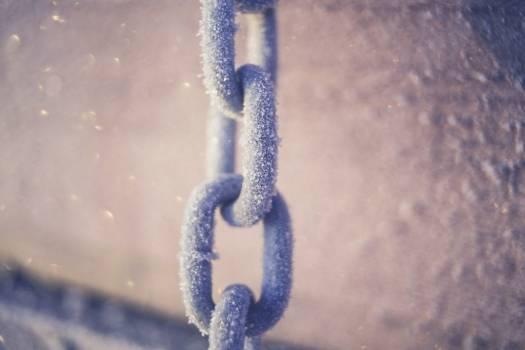 Icy Chain Links Free Photo #403890