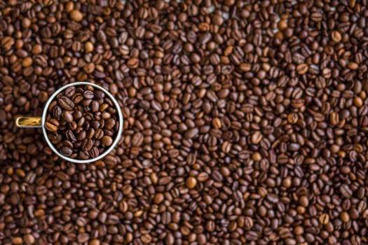 Coffee Cup Full of Beans Free Photo #403902