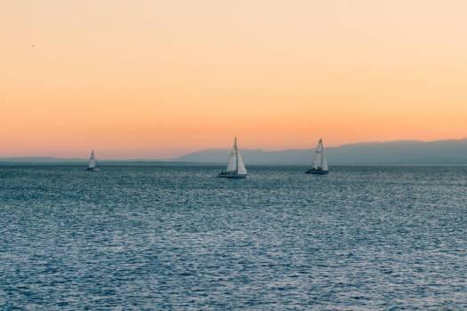 Sailboats on Water Sunset Free Photo Free Photo