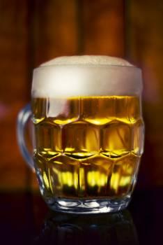 Mug glass beer foam #40398