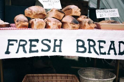Fresh Bread Rustic Sign Free Photo #403994