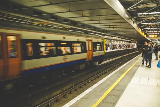 Underground Train at Station Free Photo #404053