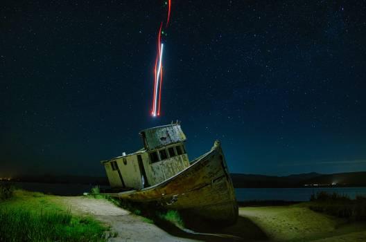 Fisherman Ship Sky #404362