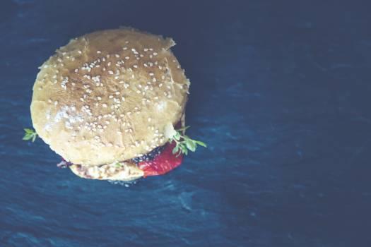 Brown Hamburger Bun Free Photo