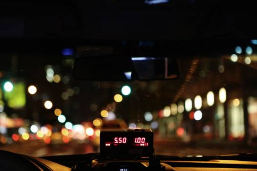 Night taxi cab lights #40608