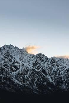 Mountain Line Snow Free Photo