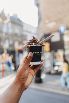 Hand Holding Ice Cream Free Photo #406937