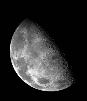 Moon half moon black and white space Free Photo