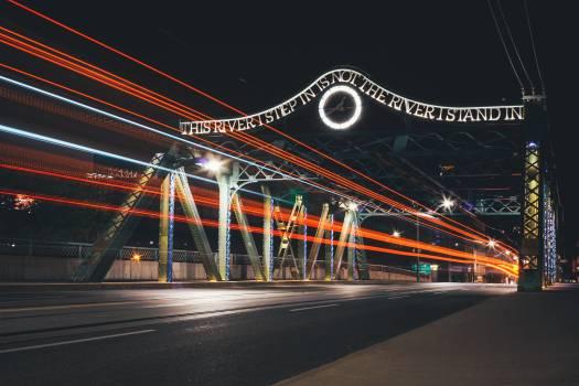 Night Light Motion Free Photo