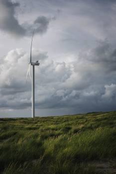 Turbine Sky Electricity Free Photo