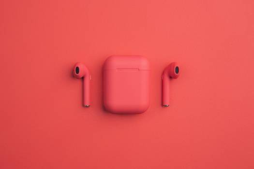 Red Earbuds And Smartphone #407879