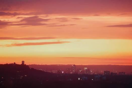 Orange Urban Sunset #407882