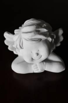 White Angel Figurine Free Photo