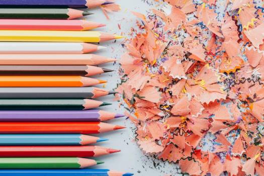 Tightly Lined Pencils And Shavings #408271
