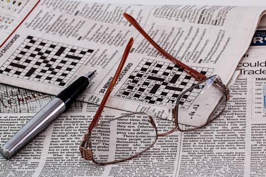 Frame Less Eyeglasses on Newspaper #40828