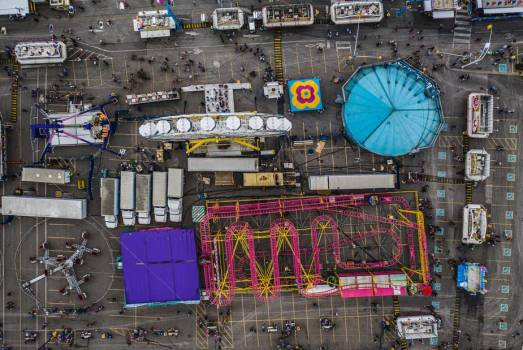 Fairground From The Sky #408403