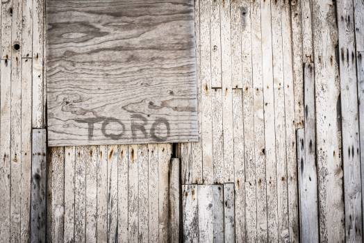Brown Toro Painted Wooden Wall #40850
