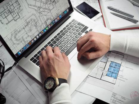 Business Man Laptop Wireframes Free Photo #408892