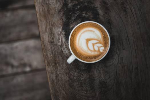 Cappuccino Art Wood Table Free Photo #408912