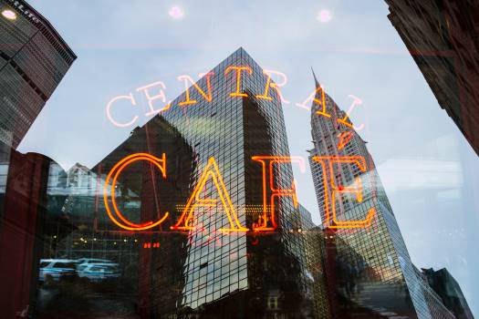 Central Cafe Neon Sign Free Photo Free Photo