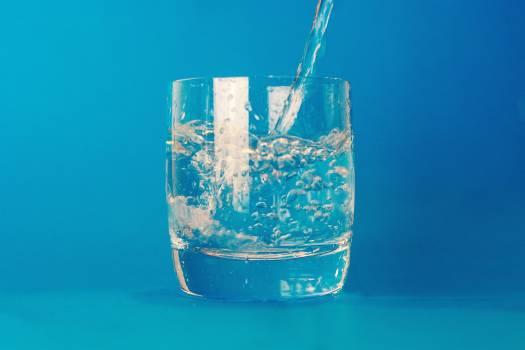 Glass Water Minimal Blue Free Photo #408986