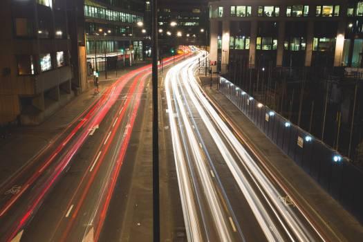 City Traffic Cars Lights Free Photo #408992