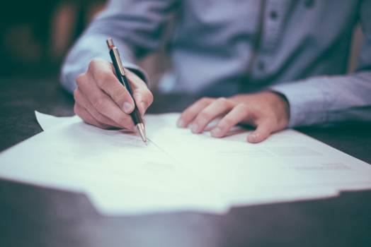 Man Writing Business Free Photo #409089