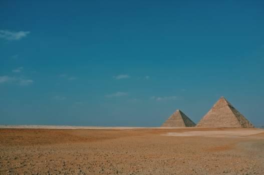 Pyramids Sand Blue Sky Free Photo #409146