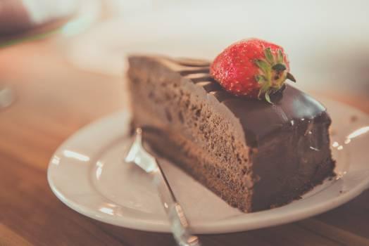Chocolate Cake Strawberry Fruit Free Photo #409155