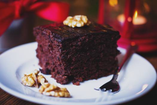 Chocolate Cake Slice Free Photo #409158
