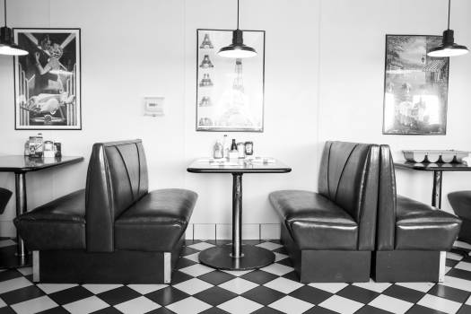 Old School Diner Booth Free Photo #409196