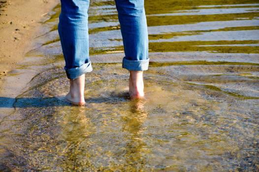 Foot in Lake #409248