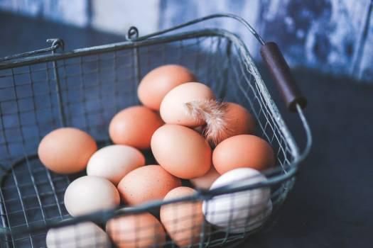 Eggs in Metal Basket Free Photo Free Photo
