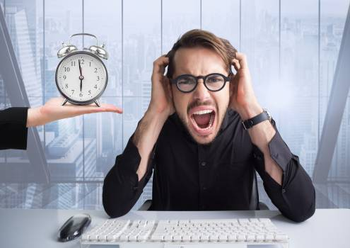 Businessman stressed out by deadline #409381