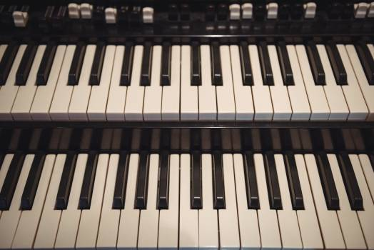 Close-up of piano keyboard #409425
