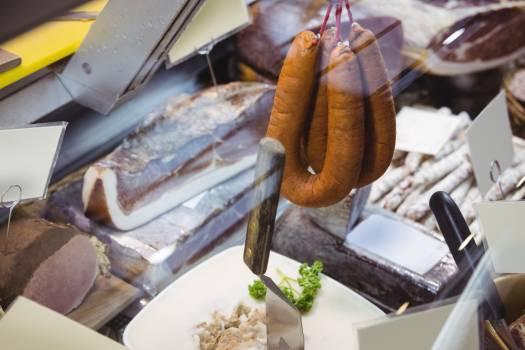 Various types of sausage and salami #409508