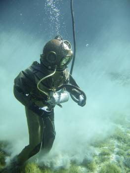 Person in Green Scuba Diving Suit #40957