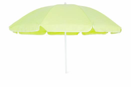 Beach umbrella isolated on white background #409681