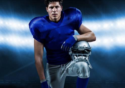 Athlete with protective helmet in stadium #409830