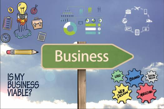Business on signpost with graphics #409832