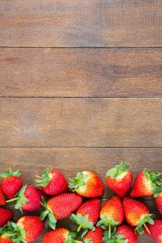 Fresh strawberries on wooden board #409849