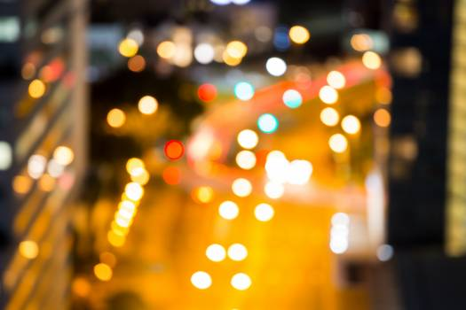 Bokeh of busy city street #409920