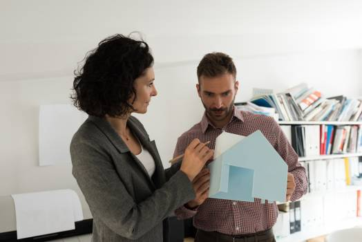 Male and female architects working together Free Photo