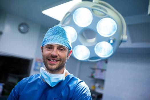 Portrait of surgeon in operation room #409987