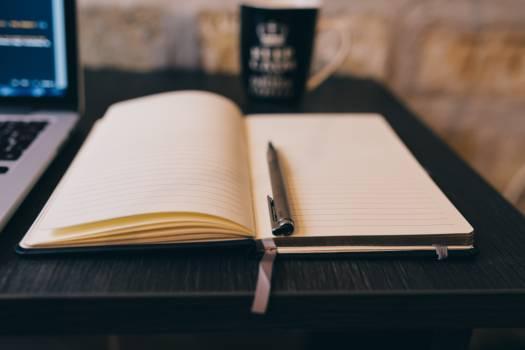 Notepad, MacBook and Coffee Mug Free Photo #410116