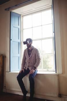Man using virtual glasses Free Photo