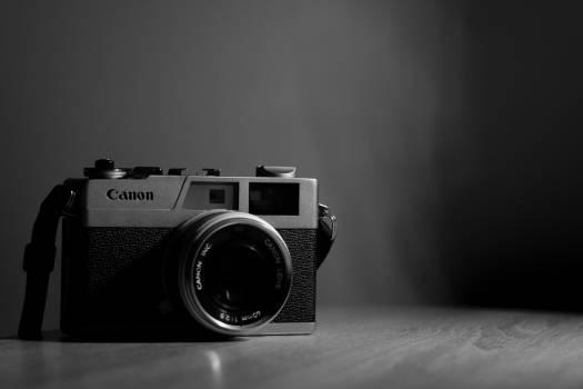 Canon Camera Black White Free Photo #410222