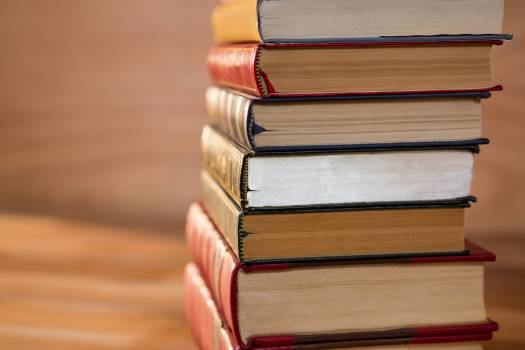 Stack of various books #410257