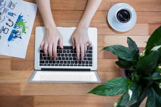 Businesswoman using laptop #410482